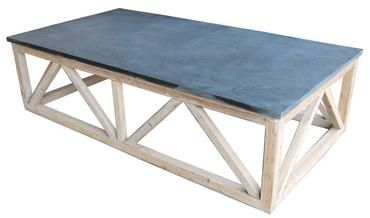 Stone Base Coffee Table.Leven Polished Stone Top Coffee Table Generously Sized With Rustic