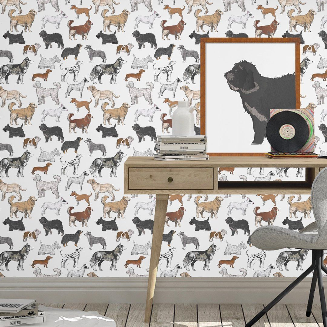 Domestic Dogs Peel And Stick Wallpaper Wall S Domestic Dog