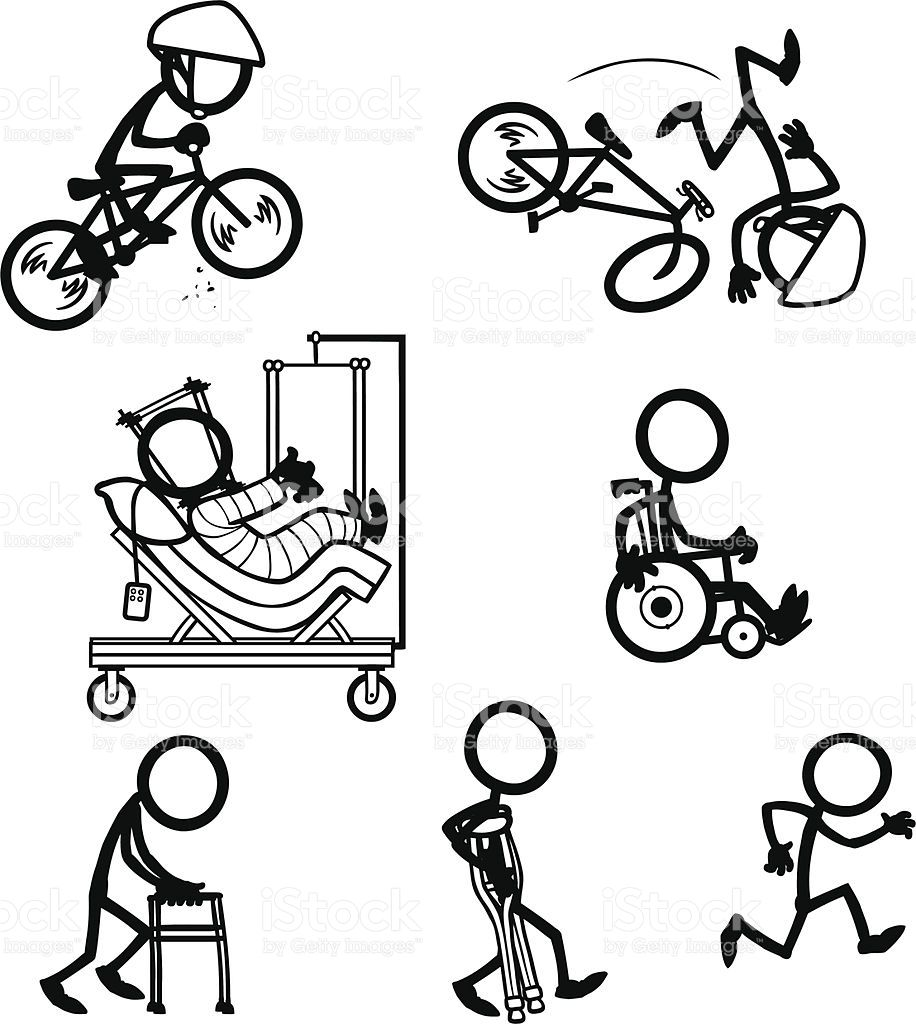stick-figure-people-bike-accident-recovery-vector-id165954419 (916 ...