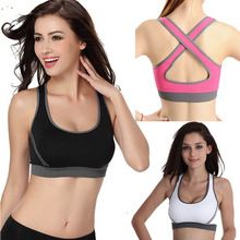 Summer Sport Top Fitness Women Crop Top Short Slim Vest Female Sports Bra With Padded Ladies Gym Bralette Strappy Bra Cropped 1(China (Mainland))