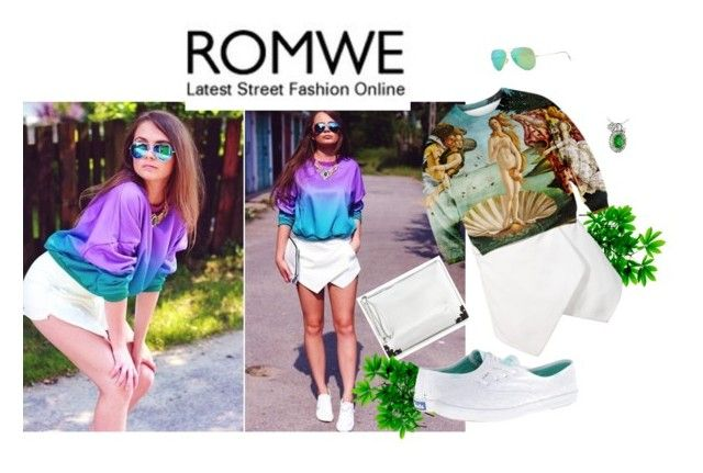 """#Romew"" by beauty-dcccv ❤ liked on Polyvore featuring McQ by Alexander McQueen, Ray-Ban and Keds"