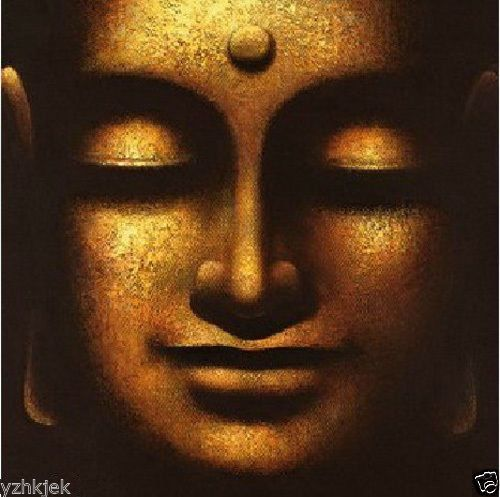 Large-canvas-Modern-Abstract-Oil-Painting-Buddha-face-Wall-Art-Decor