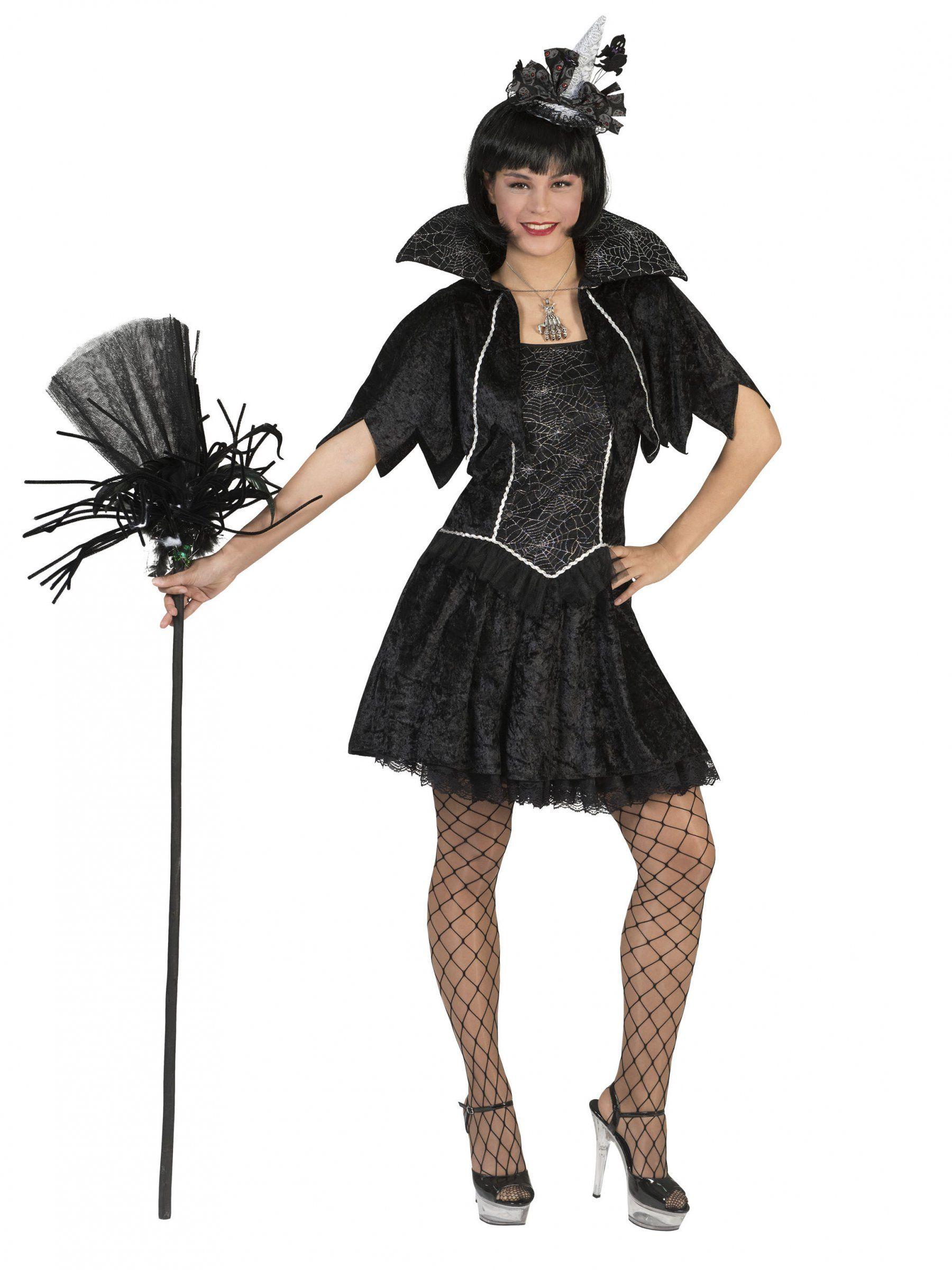 9b7efa555a Disfraz bruja araña negra mujer Halloween  Este disfraz de bruja para mujer  incluye un vestido