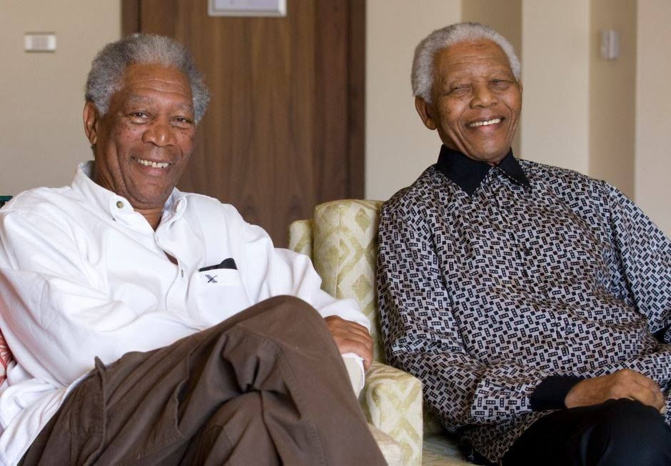 Morgan Freeman & Nelson Mandela (RIP)