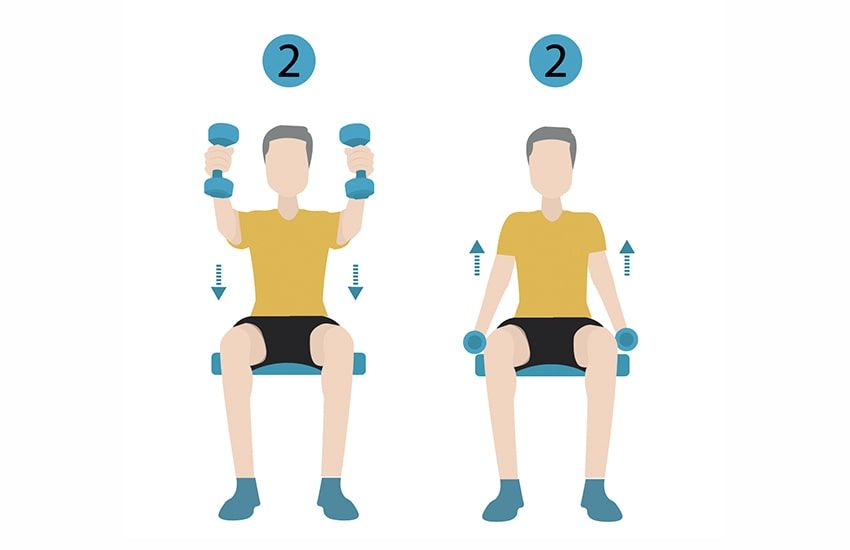 4 Strength Training Moves You Can Do With A Chair Strength Training Flexibility Workout Exercise