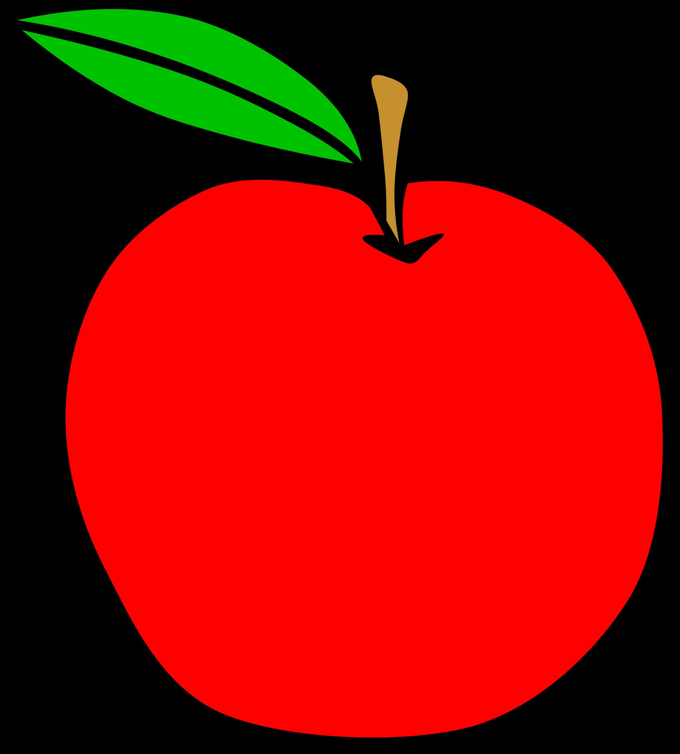 Apple fruit. Clipart of clip art