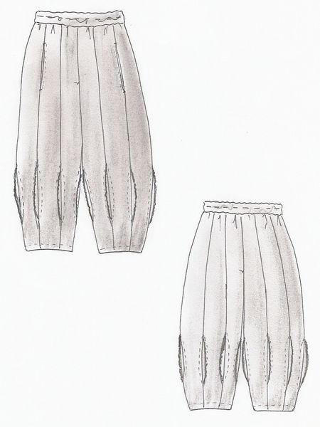 Lagenlook Einzel - Schnittmuster für Hose Dubai | Trousers ...