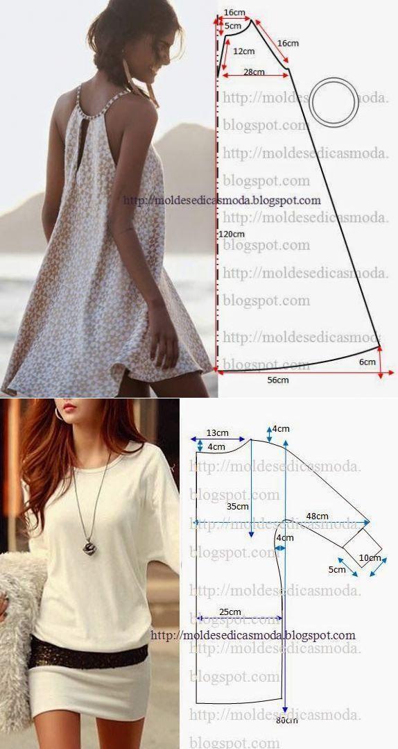 шитье | Patrones simples, Vestidos cortos y Patrones