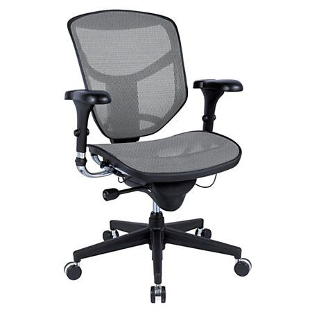 Exceptionnel WorkPro® Quantum 9000 Series Ergonomic Mesh Mid Back Chair, Gray/Black