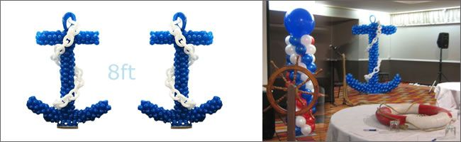 nautical balloons centerpieces Corporate event decorating using