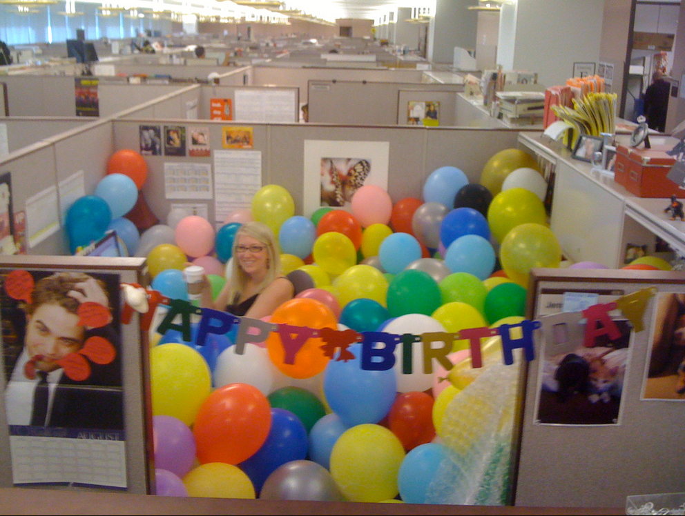 Images Office Birthday Decoration Ideas holiday cubicle decorating