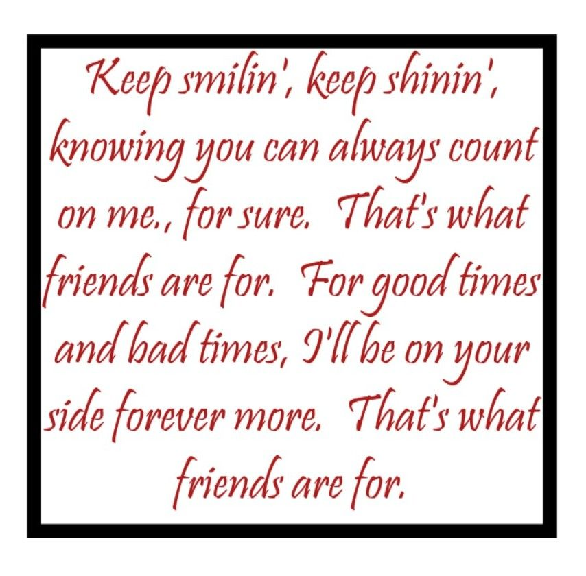 Dionne Warwick   Thatu0027s What Friends Are For   Song Lyrics, Songs, Music  Lyrics, Song Quotes
