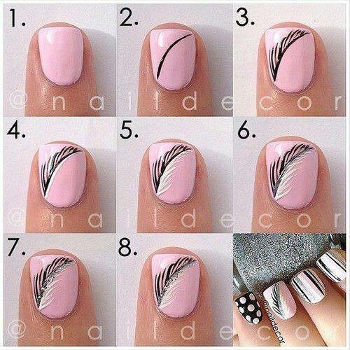 Baby Pink Silver Makeup Nails Pinterest Pink Feathers