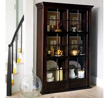 Superbe Garrett Glass Cabinet #potterybarn $1599.00 CORNINGWARE ***WANT/NEED***