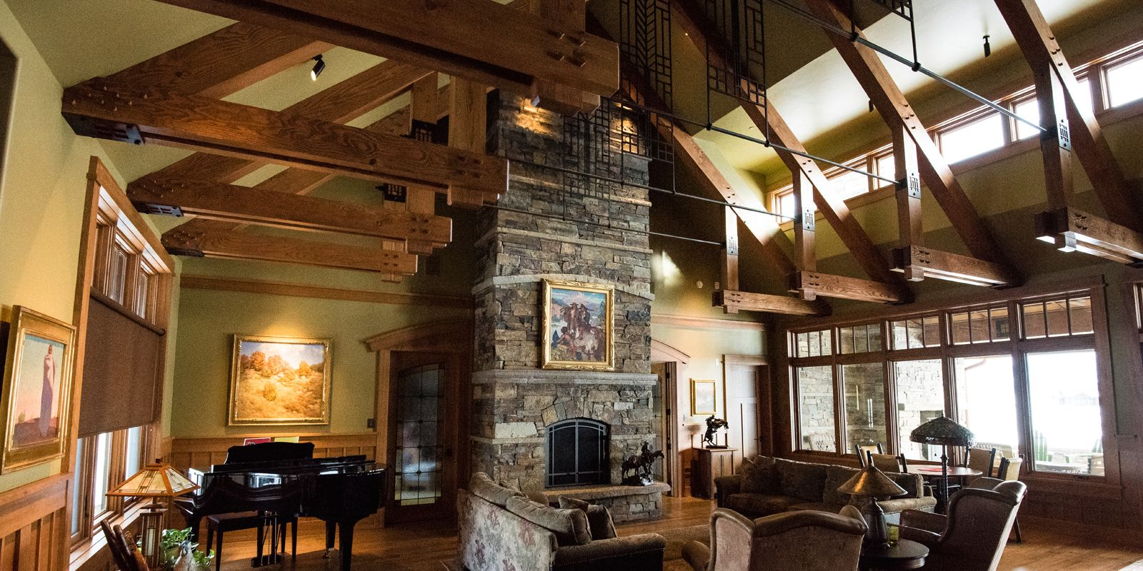Craftsman style interior in a mountain home. | Dream home ...