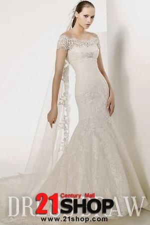 Gorgeous Trumpet/Mermaid Off the Shoulder Chapel Bridal Gowns - Wedding dress