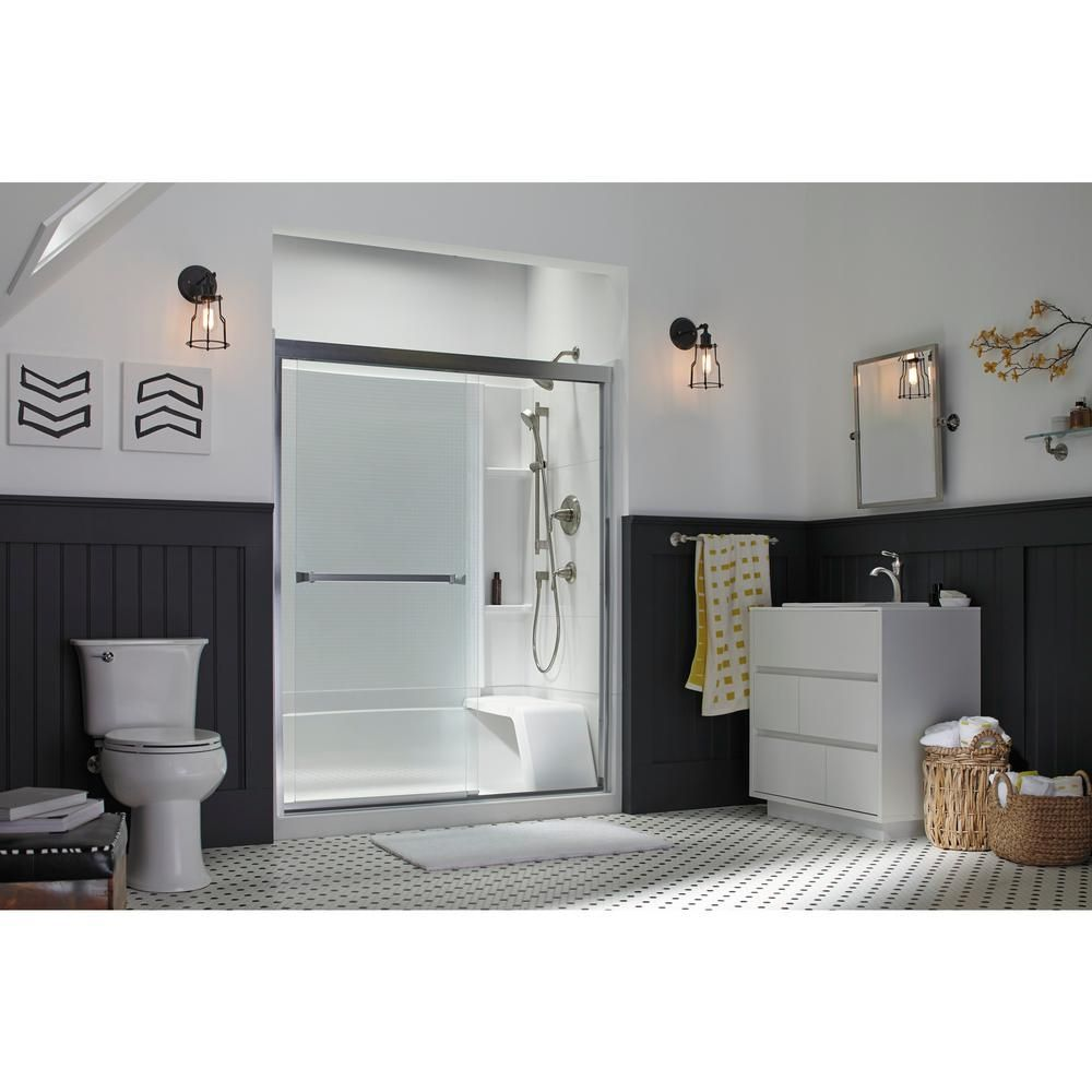 Sterling Accord 36 In X 60 In X 55 1 4 In 3 Piece Direct To Stud Complete Tub Shower Wall Set In White Shower Wall Tub And Shower Faucets Shower Tub