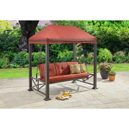 Delicieux Better Homes And Gardens Sullivan Pointe 3 Person Outdoor Swing With  Gazebo, Bronze