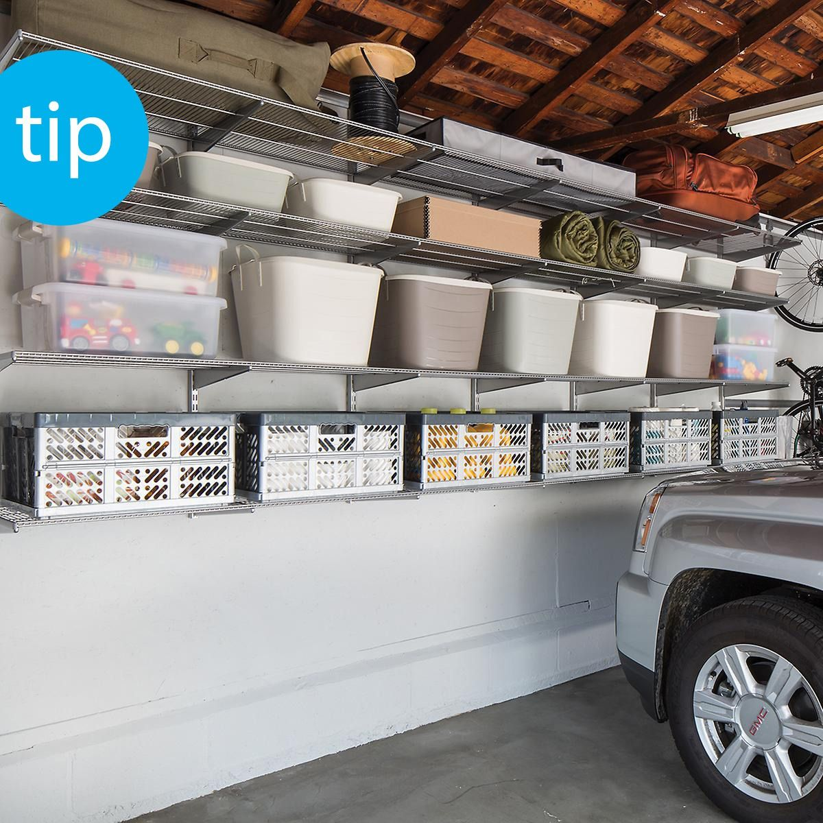 Garage Shelving Made Easy With A Few Of Our Helpful Tips Got A Two Car Garage But Only E Garage Shelving Garage Storage Organization Garage Organization Diy