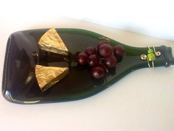 Melted Wine Bottle Cheese Board Cheese Tray Plate by chelkay $15.99  sc 1 st  Pinterest & Melted Wine Bottle Cheese Board Cheese Tray Plate by chelkay $15.99 ...