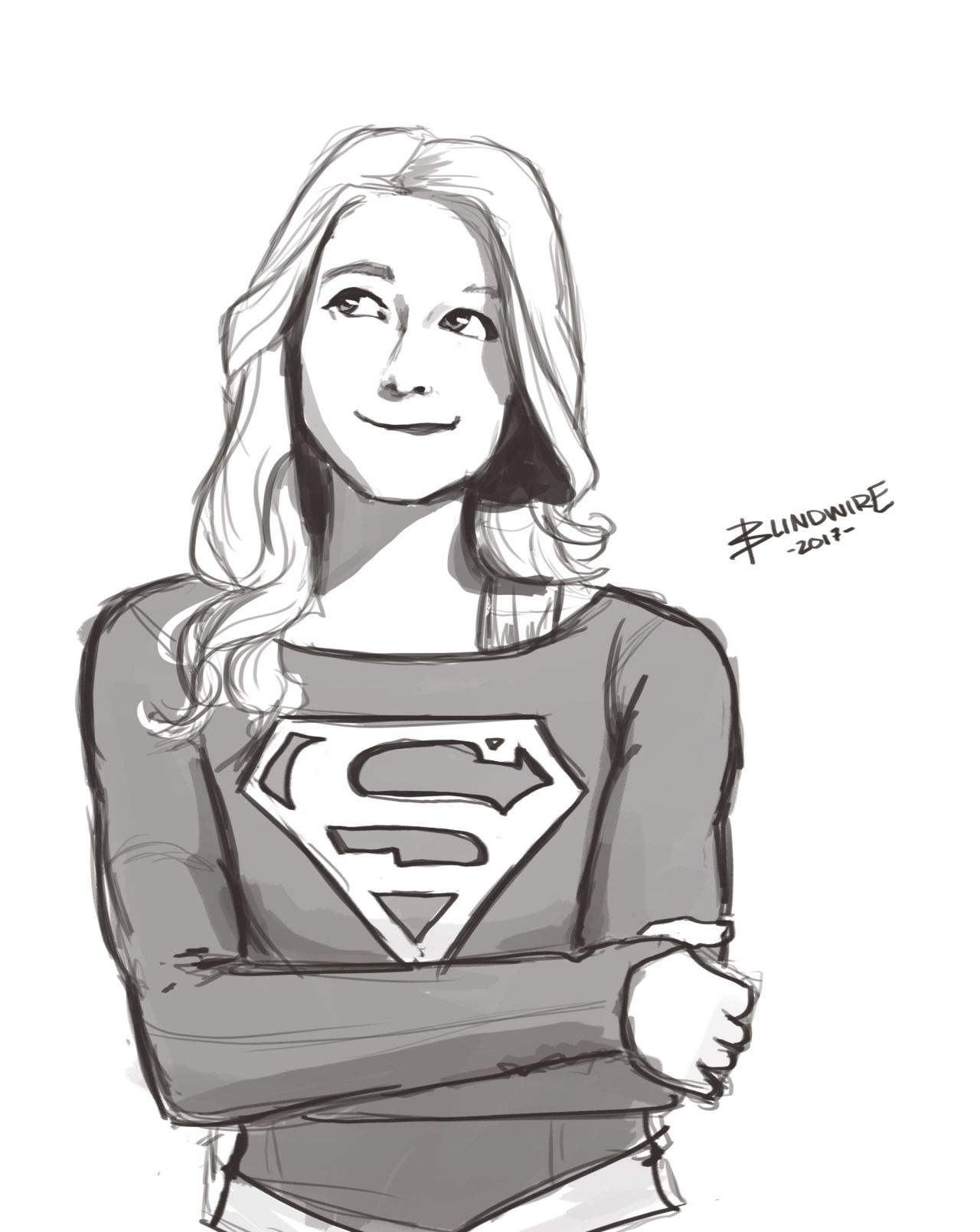 A Quick Supergirl Doodle By Blindwire Flash Arrow Lot
