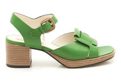 Womens Smart Sandals - Orla Matilda in Green Leather from Clarks shoes