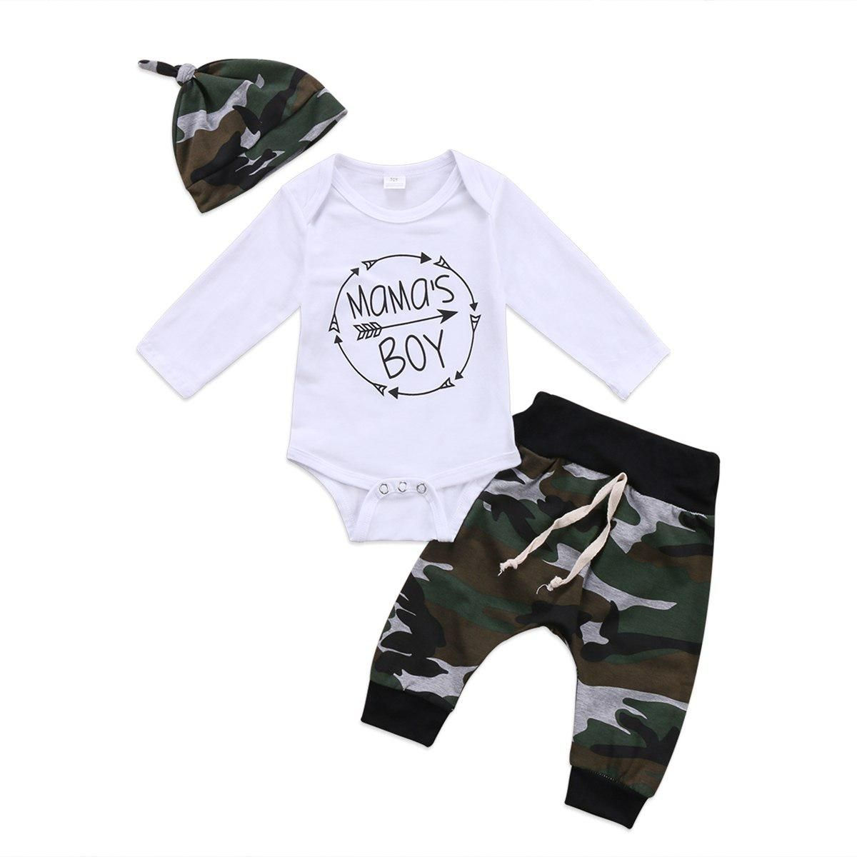 a0fcfb75e Newborn Infant Baby Letter Print Boys Romper Top Pants Hat 3Pcs Outfit Set  Clothes. Yesterday's