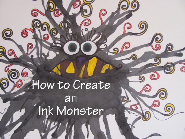 The Chocolate Muffin Tree: How to Create an Ink Monster.