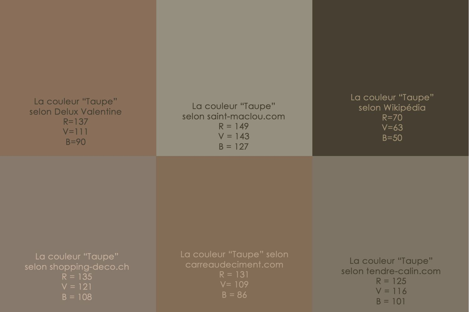 Gris Taupe Google Search Couleur Taupe Taupe Nuancier Couleur