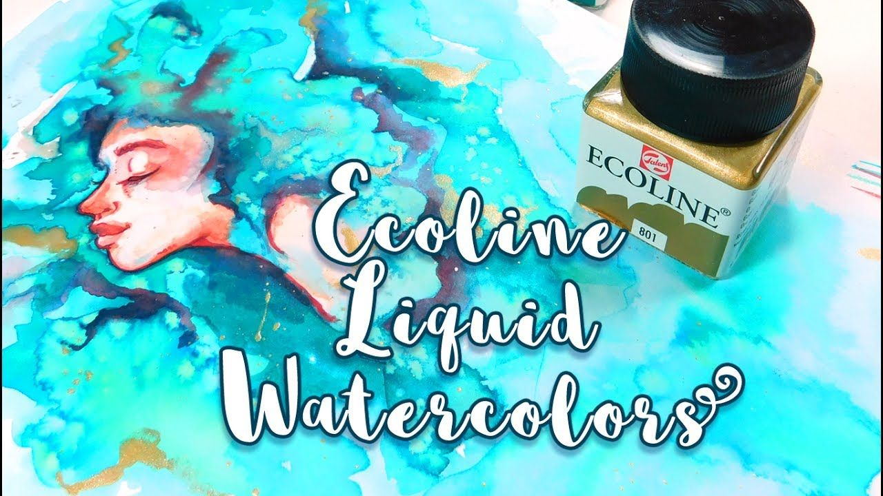 Ecoline Liquid Watercolors Painting In A Sketchbook Misskerriej Liquid Watercolor Sketch Book Watercolor