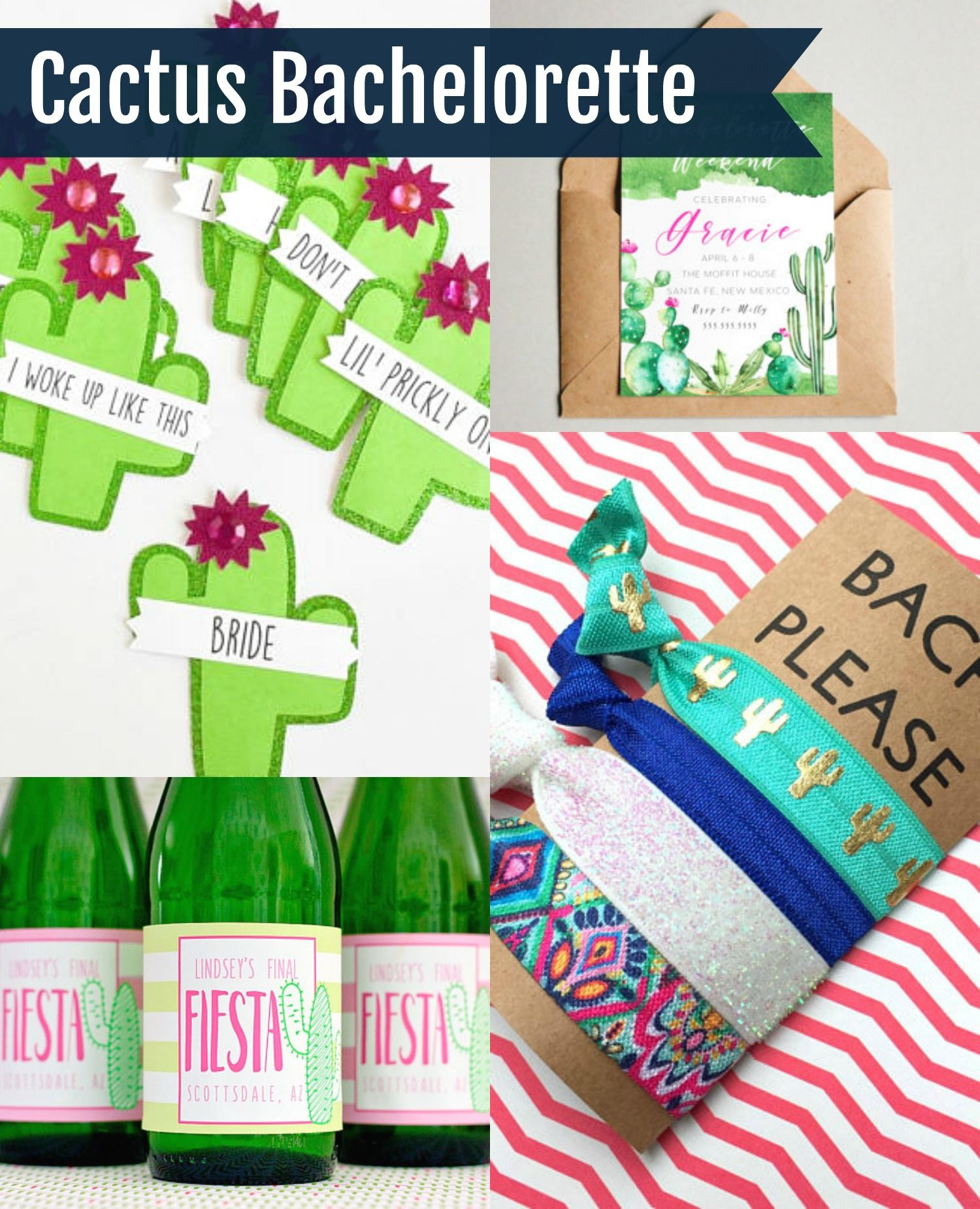 Round Up Of Best Cactus Bachelorette Party Favors And