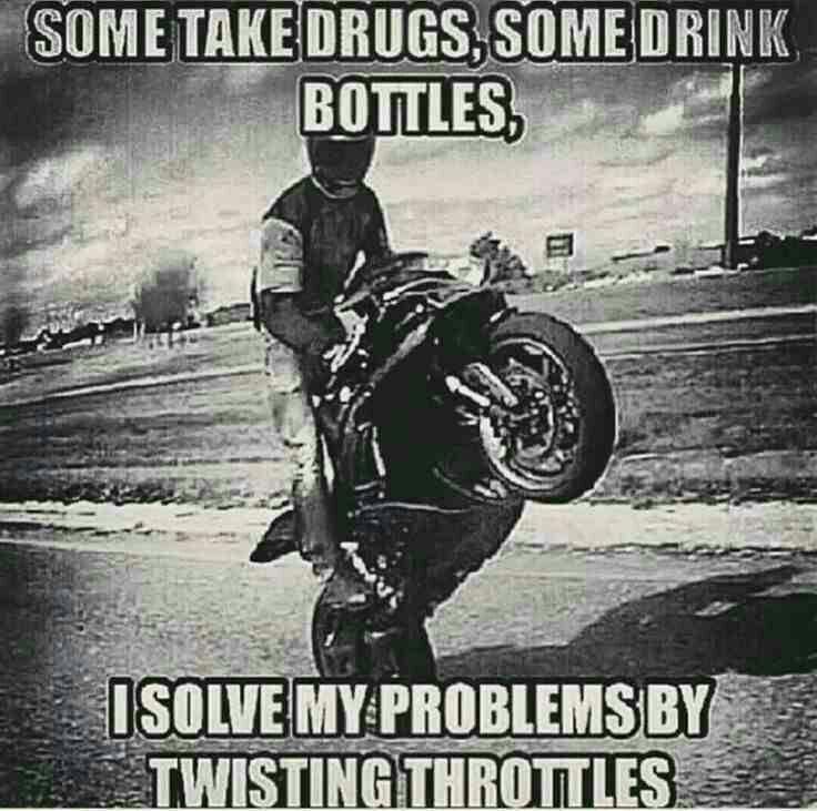 Some take drugs, some drink bottles