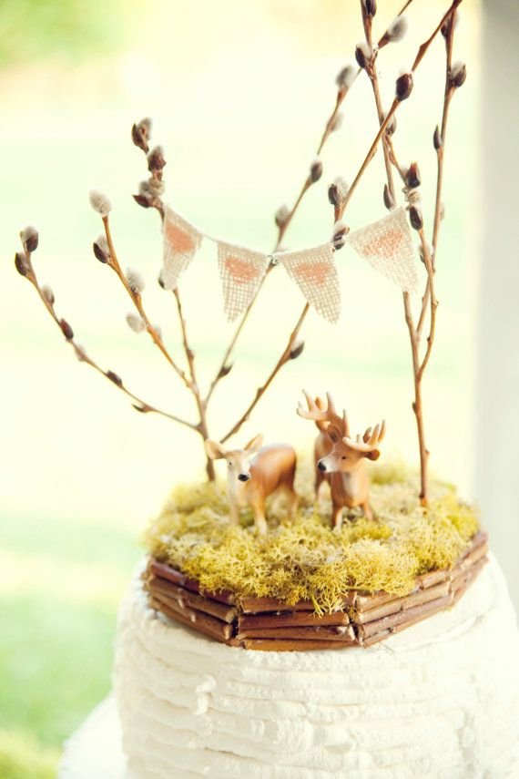 Forest Full of Love, Deer Wedding Cake Topper | Wedding Cakes + ...