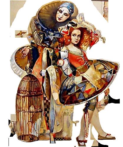 tube png trouvé sur le net - (fotki mika) fantaisie carnaval pierrot ...