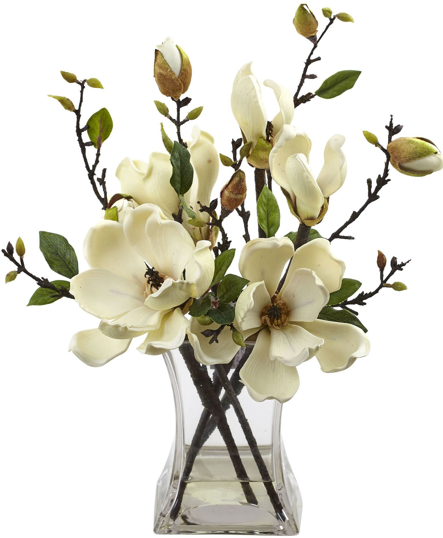 Magnolia Arrangement With Vase Magnolias Pinterest Flowers