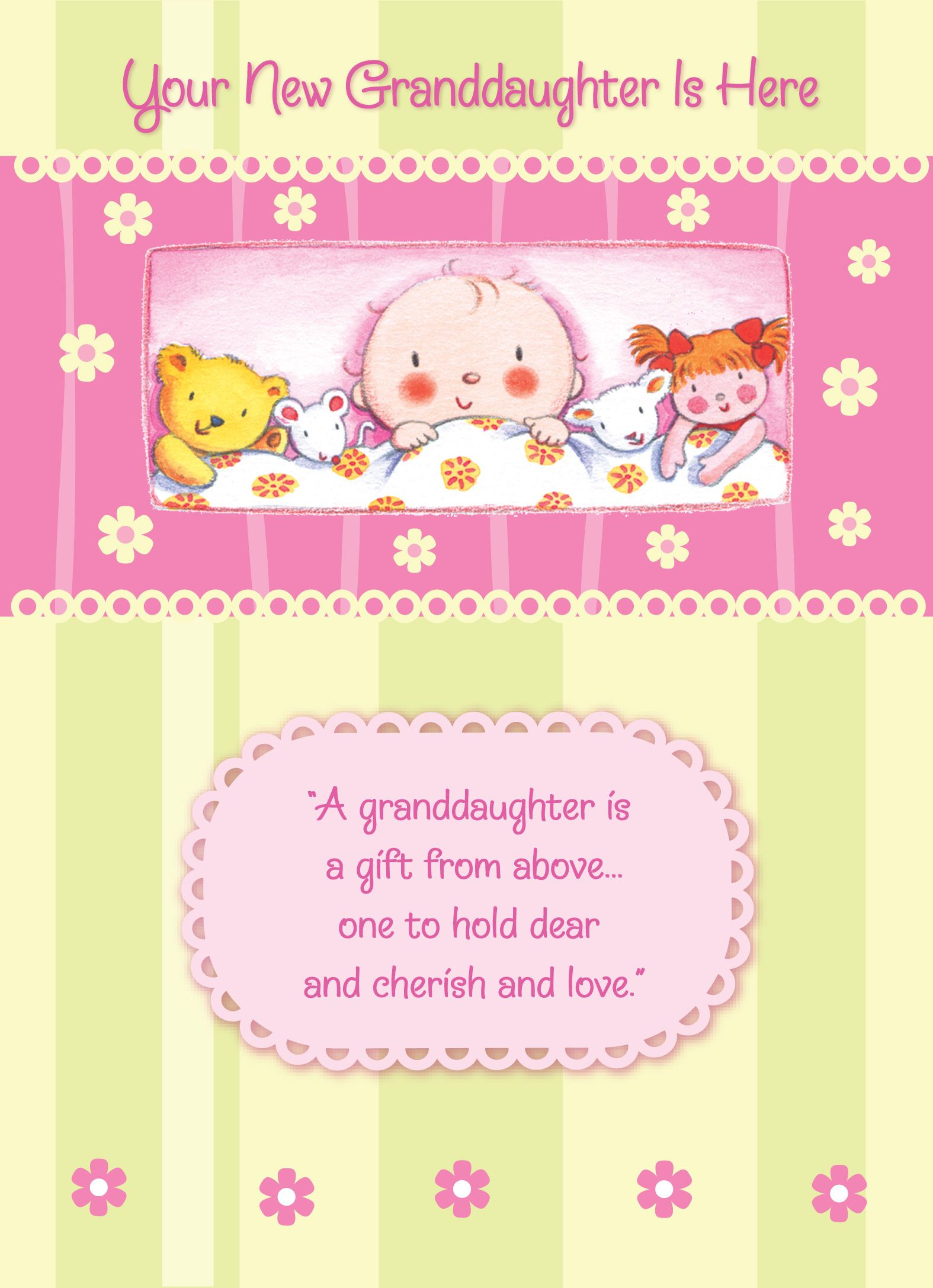 congratulations on your new granddaughter