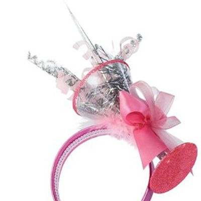 Pretty in Pink Martini Party Headband - Bachelorette, Birthday & Holiday Accessory $16.95 at GirlfriendGalas.com #girlfriendgalas