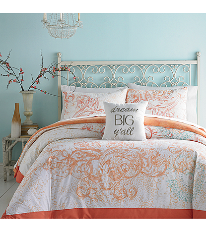 Jessica Simpson Scroll Ombre Comforter Bedding Collection Bon