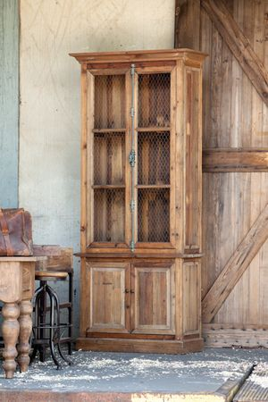 Reclaimed Wood Tall Boy Hutch with Long Metal Lock | Dream Home ...