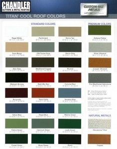 Metal Roofing Color Chart