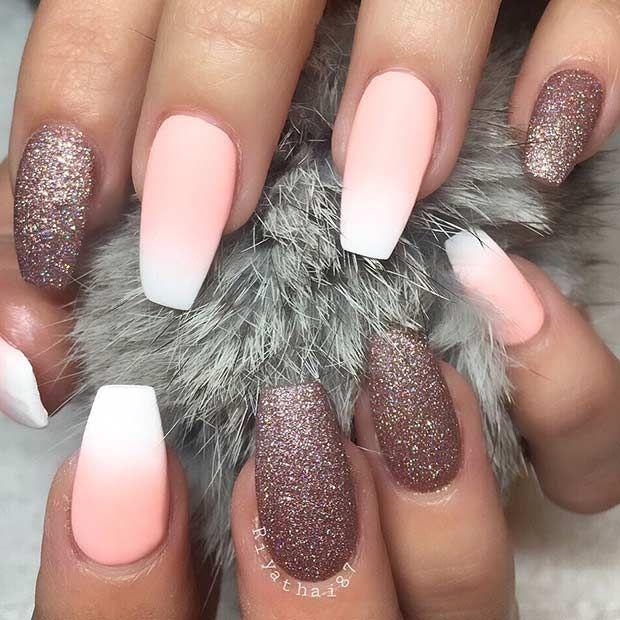 25 Fun Ways to Wear Ballerina Nails | Diseños de uñas, Uña decoradas ...