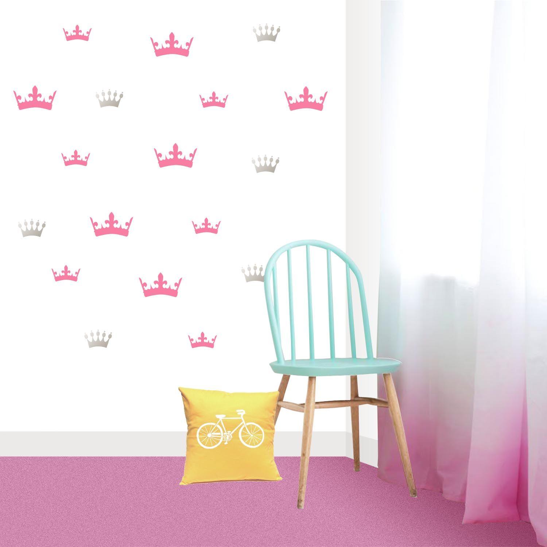 Vinilo Decorativo Coronas De Princesa Decoraci N Habitaciones  ~ Dormitorios Infantiles Niña Princesas