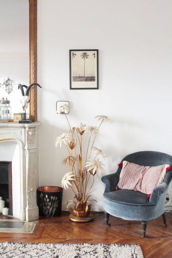 Visite de lu0027appartement parisien de la créatrice Laure de Sagazan - salas vintage