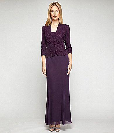 Alex Evenings 2-Piece Shimmer Jacket Dress | Dillards.com