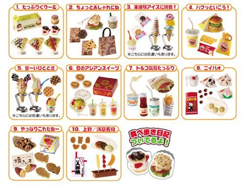 Re-ment Dollhouse Japan Have A Bite Ice Cream Sweet Snacks Rare rement No.10