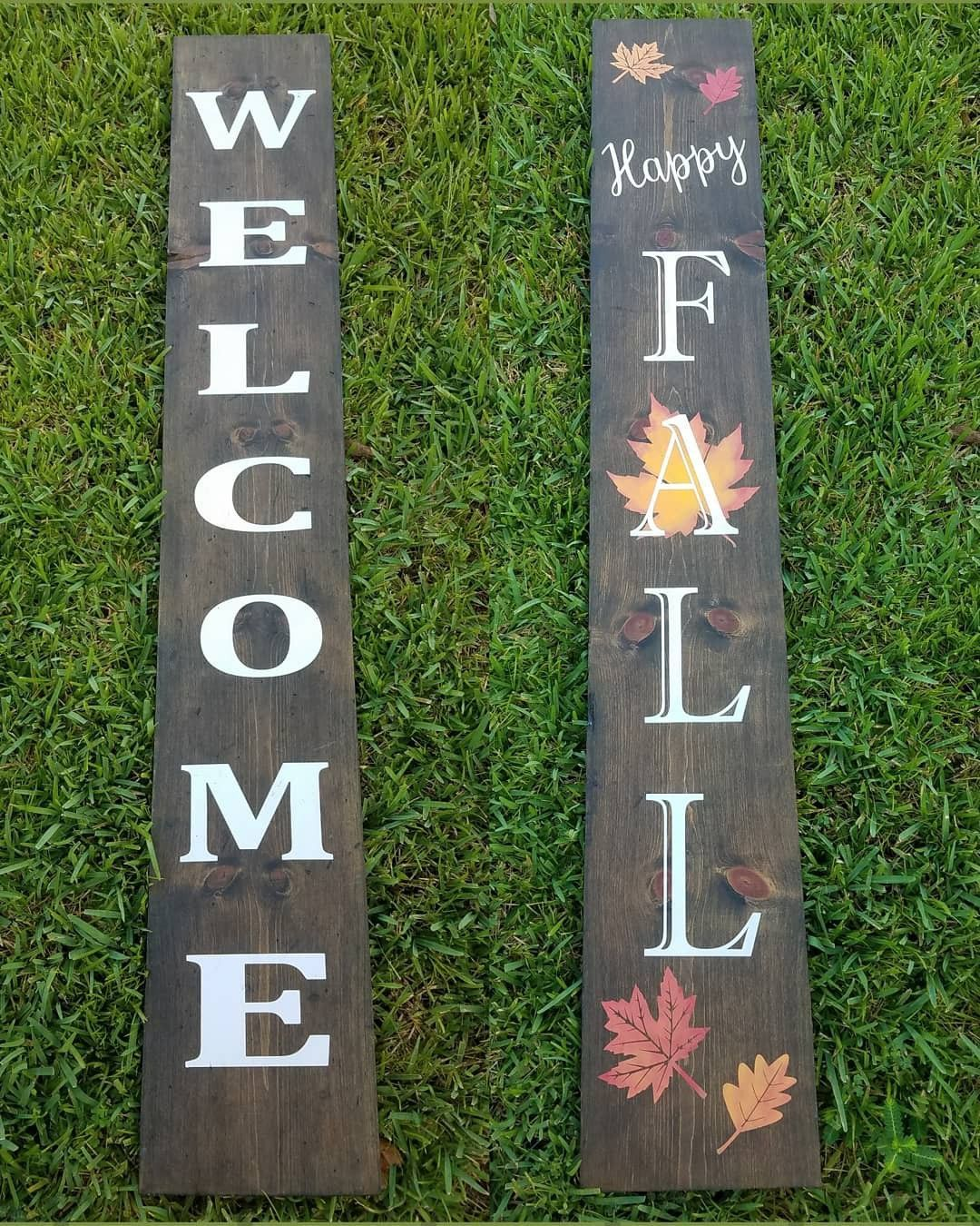 Fall Crafts For Porch Reversible Welcome Sign Welcome Sign Front Porch Sign Fall Decor Fall Christmas Decor Chr Fall Front Porch Decor Front Porch Signs Fall Wood Signs