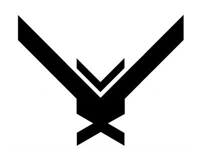 Halo 4 Logo Art Print By Evelyus X Small Art Logo Art Prints Halo 4