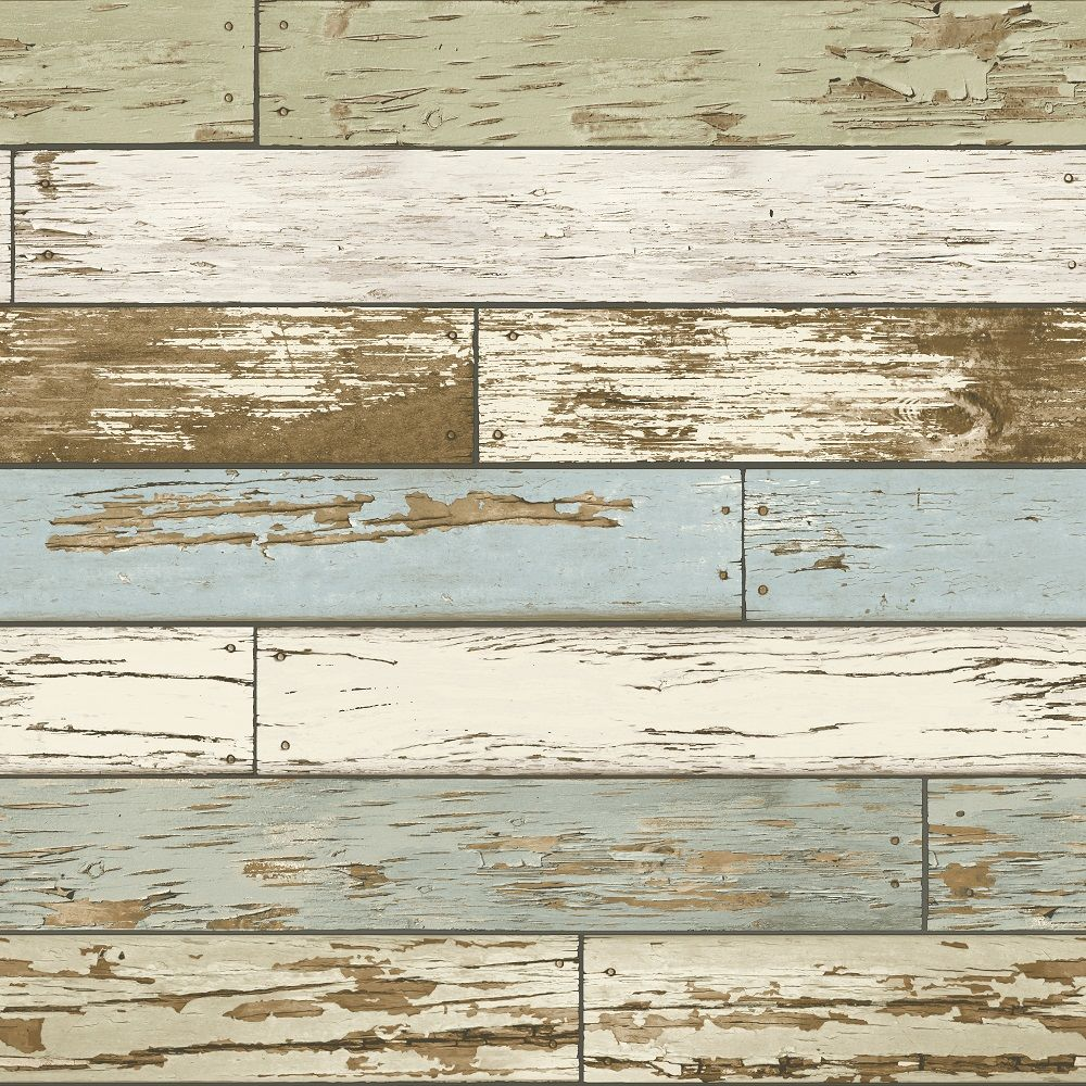 A street prints scrap wood wallpaper weathered wooden for Brewster wallcovering wood panels mural 8 700