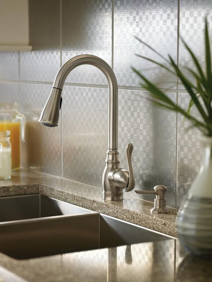Good Moen Anabelle Spot Resist Stainless 1 Handle Pull Down Kitchen Faucet