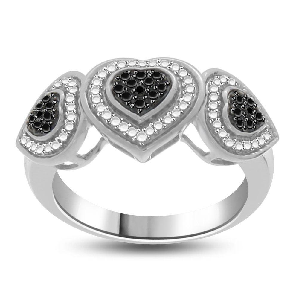 Engagement Ring Black Diamond Accent 10 Black rings